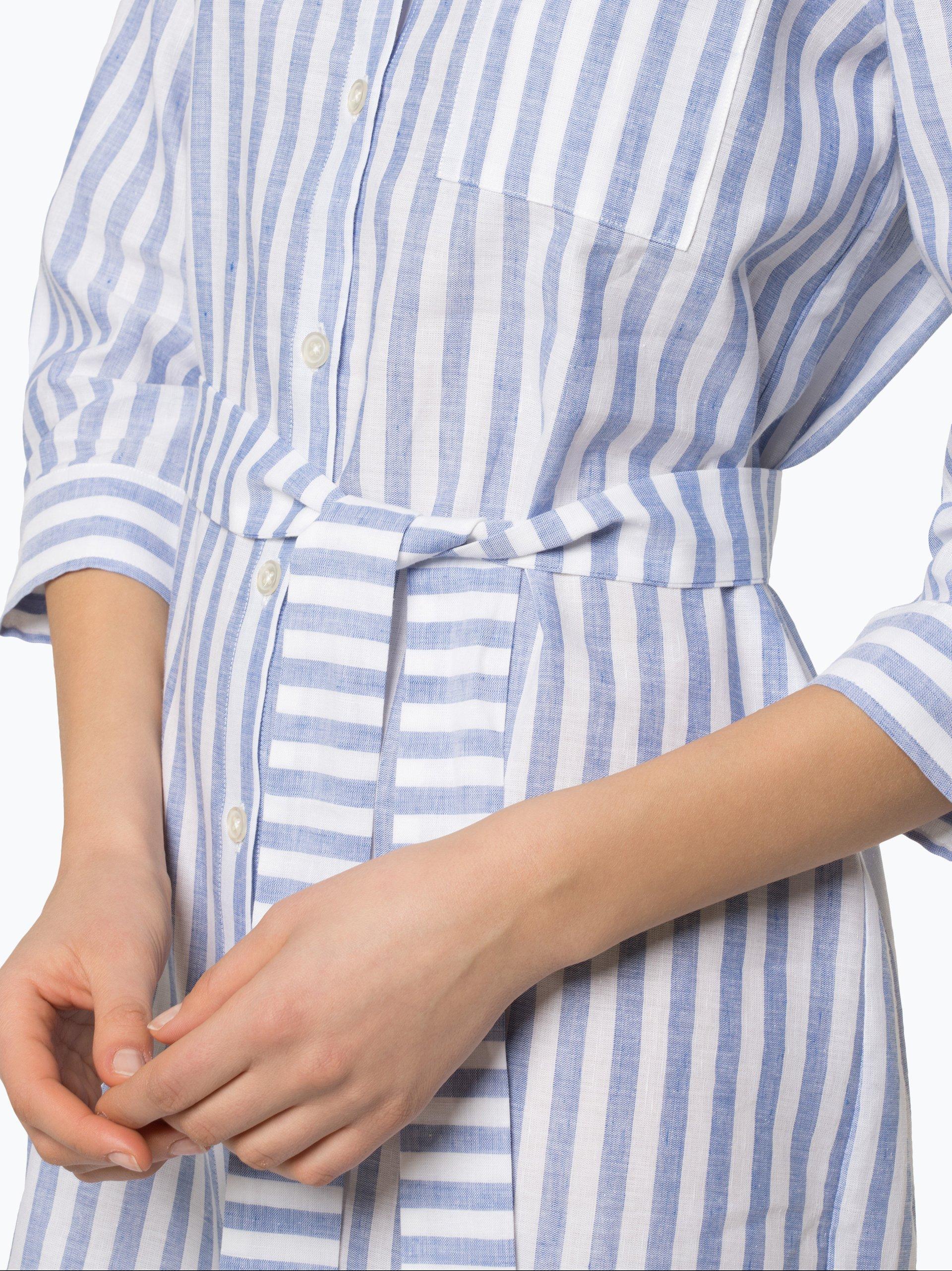 0039 Italy Damen Kleid mit Leinen-Anteil