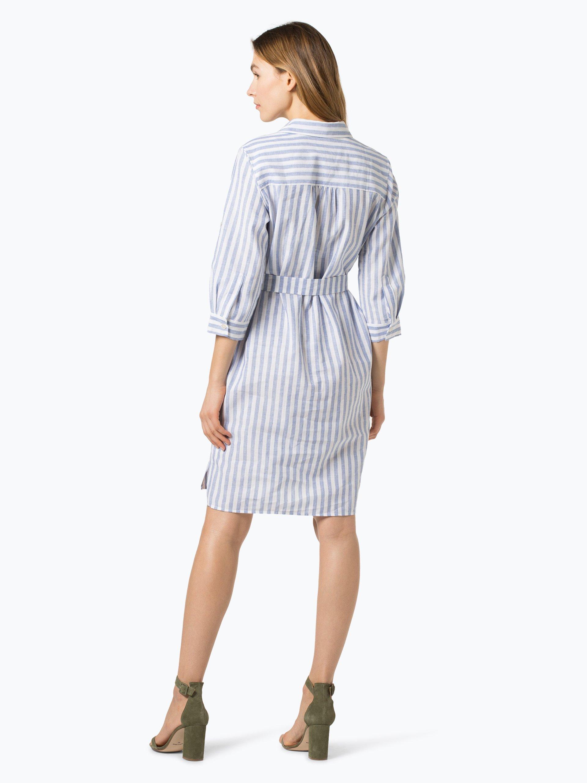 0039 Italy Sukienka damska z domieszką lnu