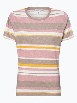 e6664c7aa167f7 Werbung Damen T-Shirt mit Leinen-Anteil