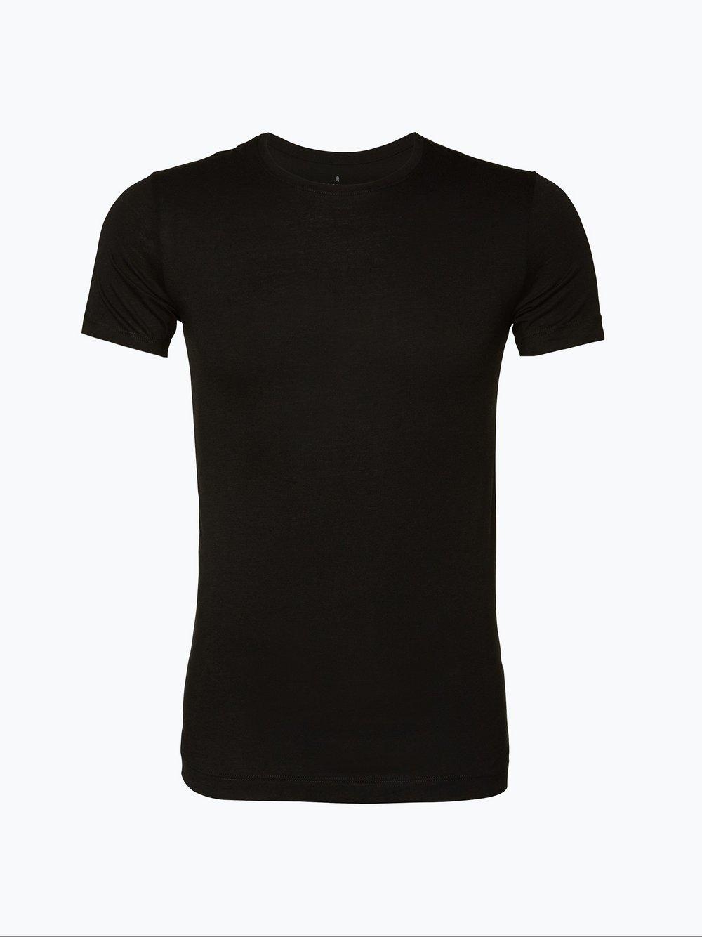 Ragman – T-shirty męskie pakowane po 2 sztuki, czarny Van Graaf 102378-0001-09990