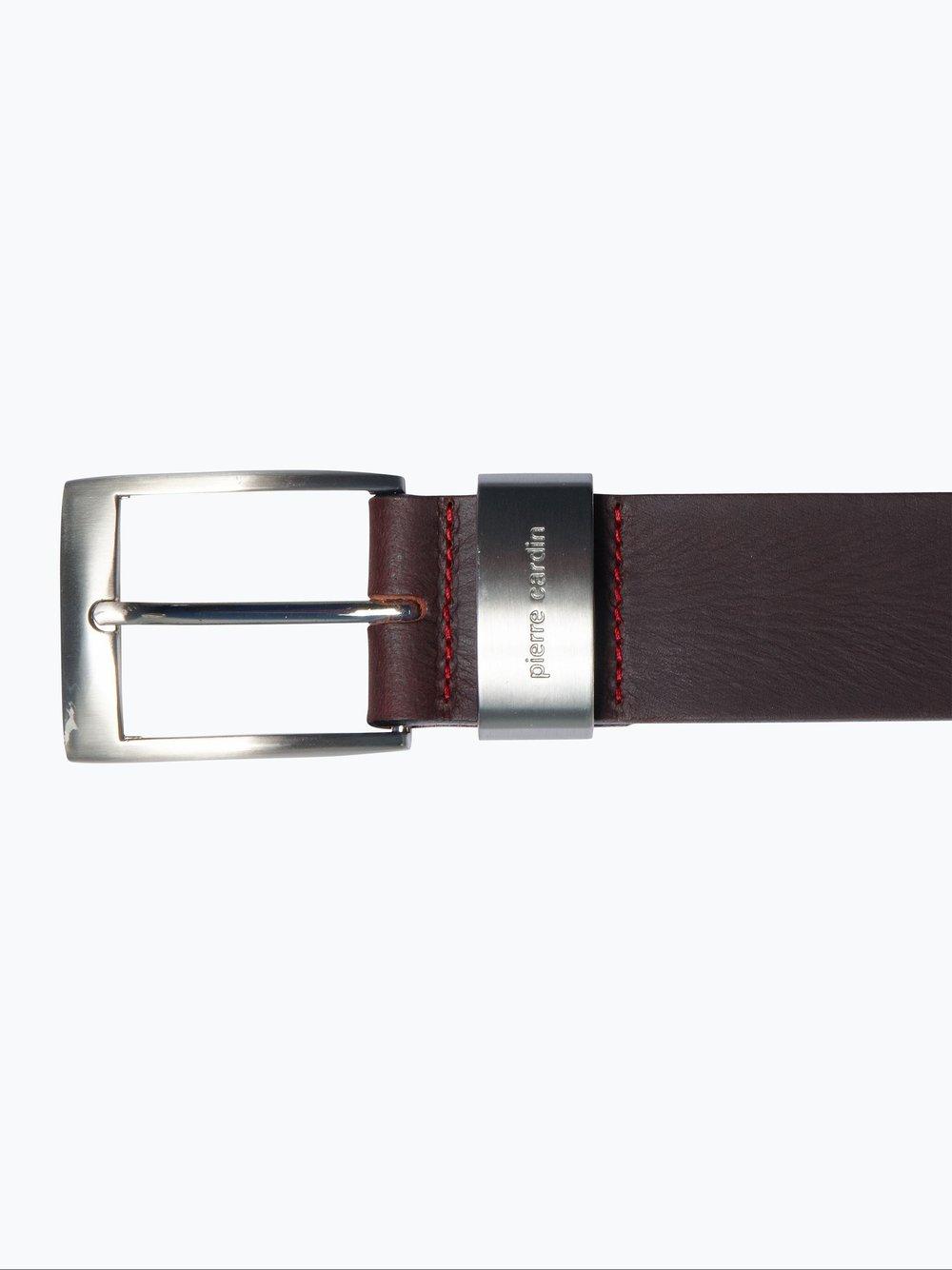 Pierre Cardin - Męski pasek skórzany, brązowy