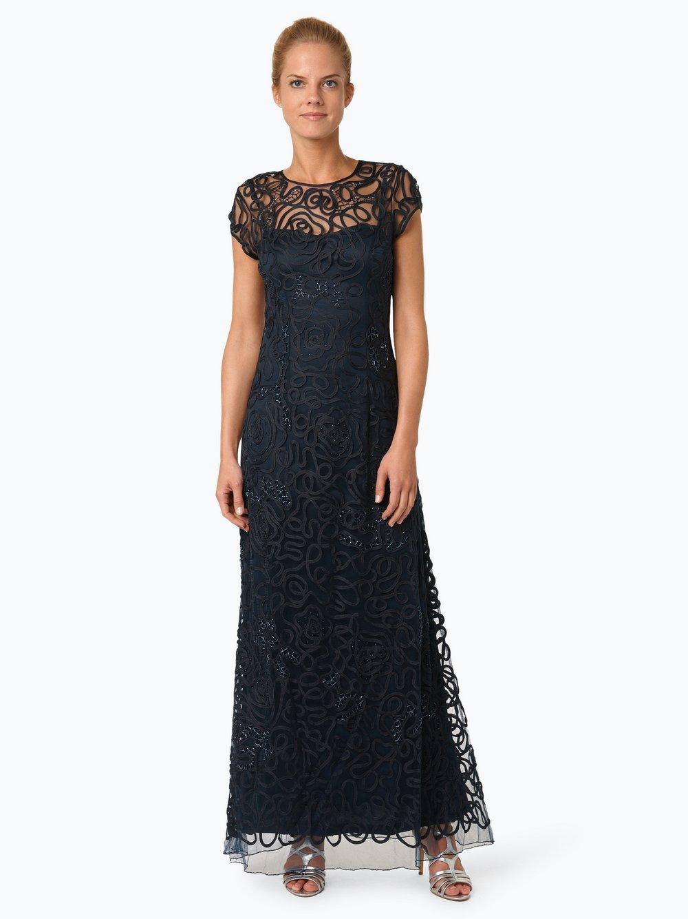 Niente - Damska sukienka wieczorowa, niebieski