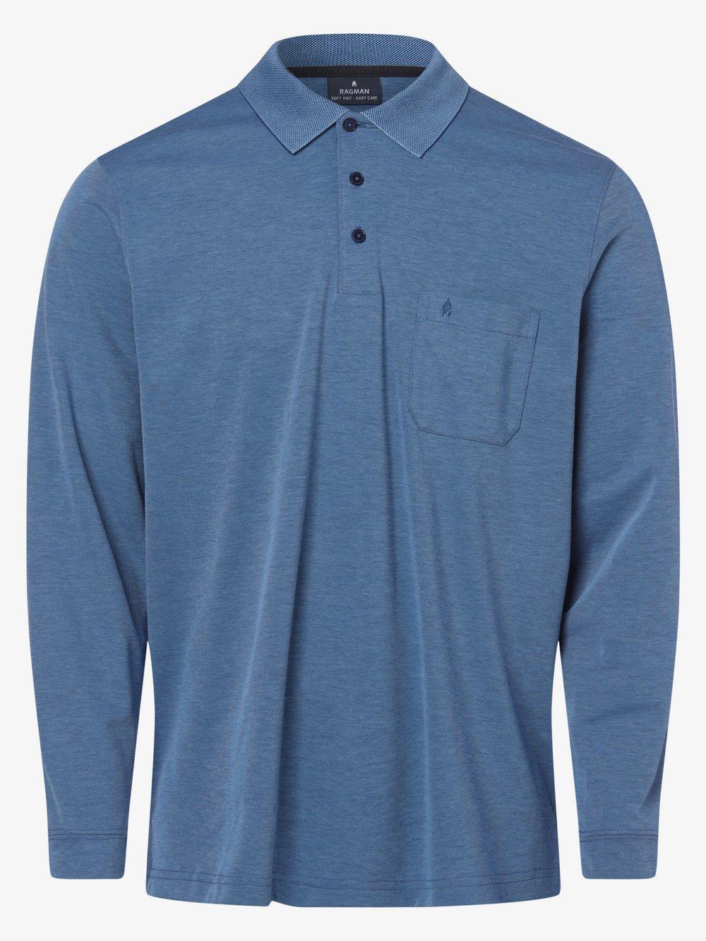Ragman – Męska koszulka polo, niebieski Van Graaf 134030-0038-09920