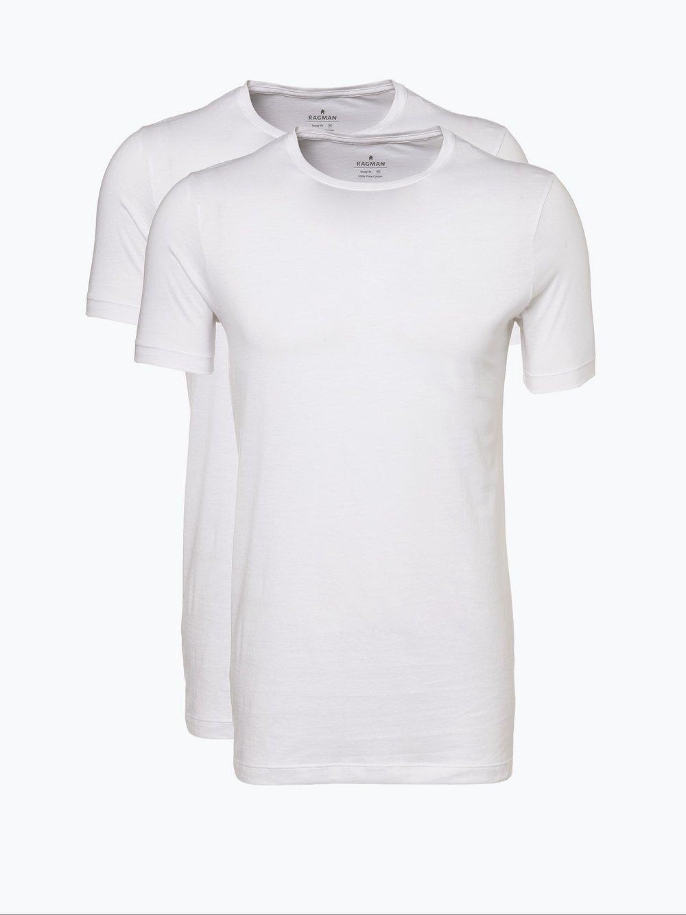 Ragman – T-shirty męskie pakowane po 2 szt., biały Van Graaf 188162-0001-09900