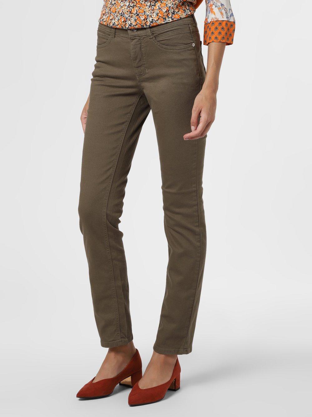 MAC - Spodnie damskie – Angela, zielony
