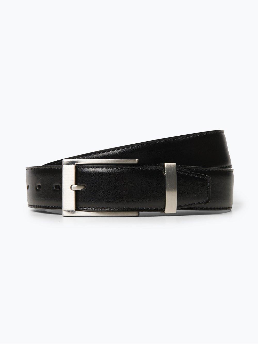 Van Graaf – Męski pasek skórzany, czarny Van Graaf 201259-0001