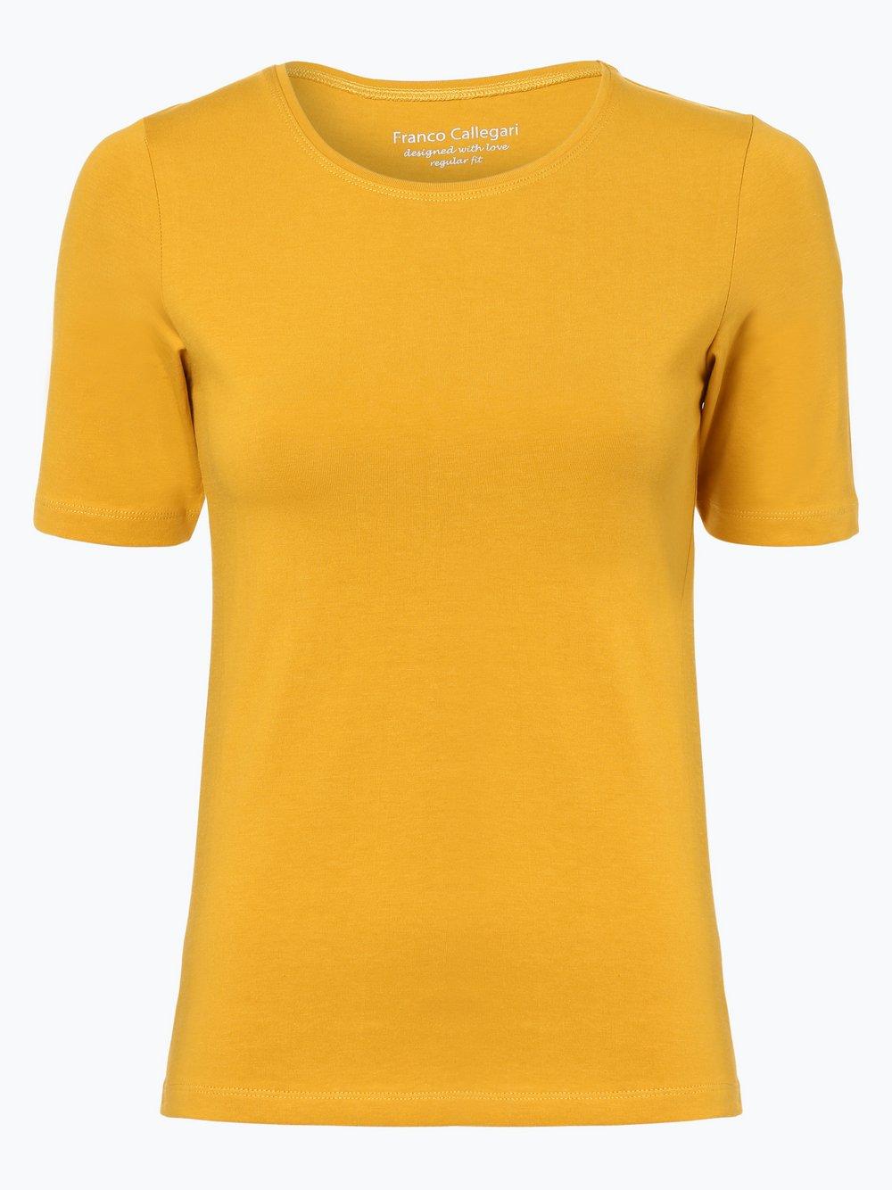 Franco Callegari - T-shirt damski, żółty