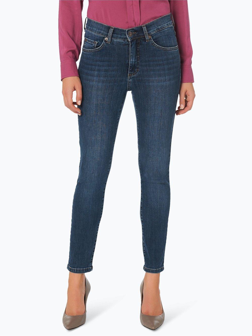Angels – Jeansy damskie – Skinny z krótkimi nogawkami, niebieski Van Graaf 254884-0002-04428