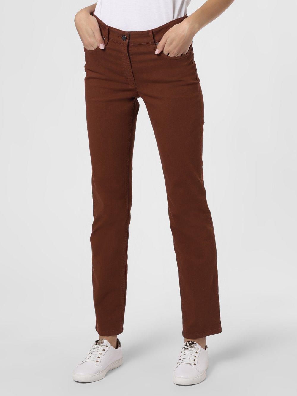 Zerres – Spodnie damskie – Cora, brązowy Van Graaf 257673-0011-00460