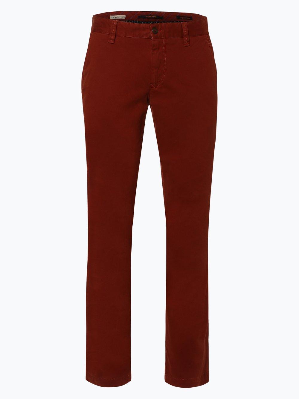 Alberto – Spodnie męskie – Lou, czerwony Van Graaf 298646-0008-03332