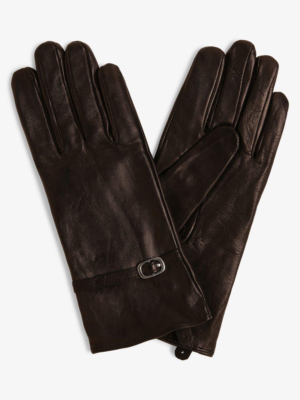Melkonian – Skórzane rękawiczki damskie, czarny Van Graaf 300025-0001