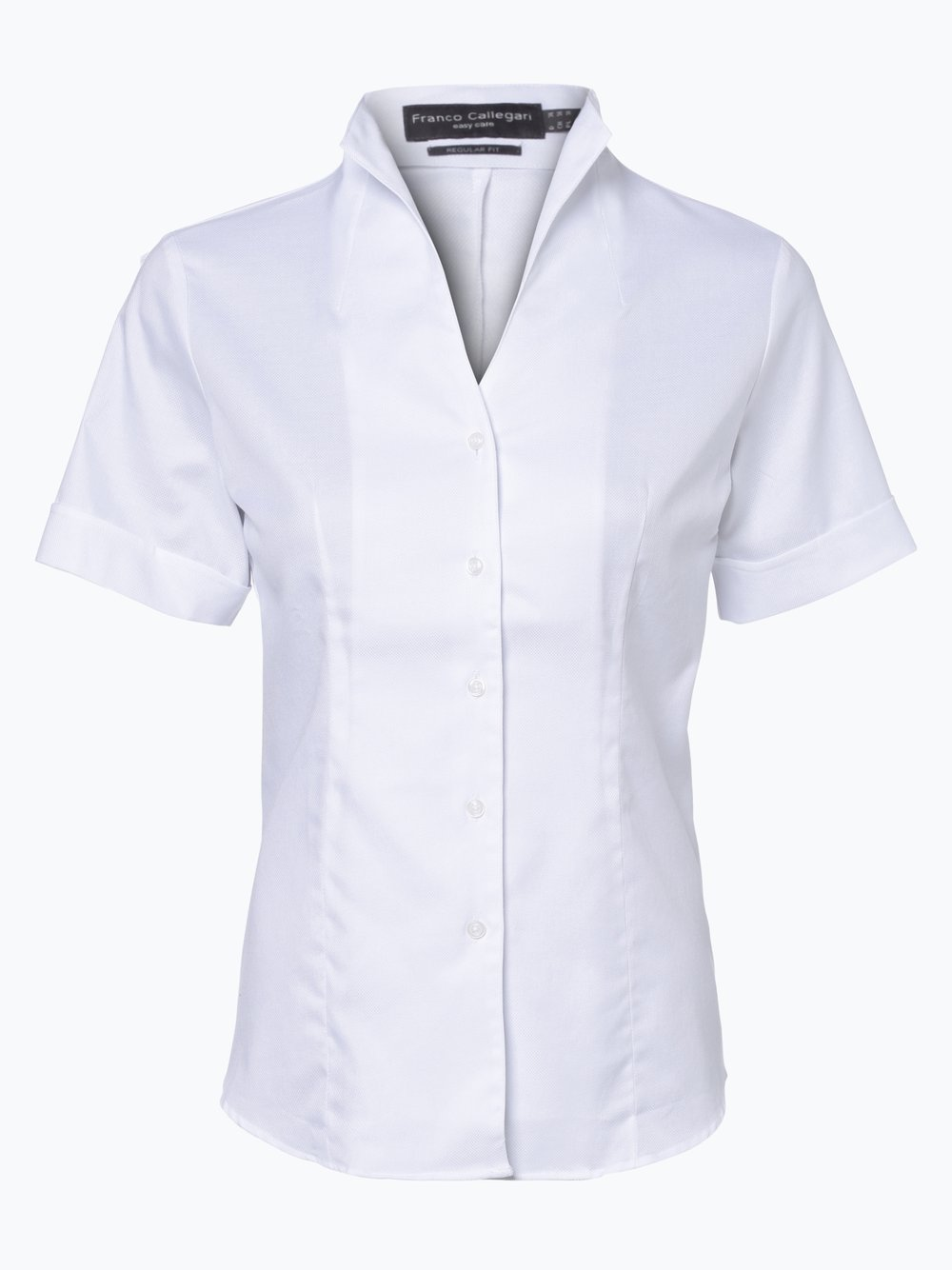 Franco Callegari – Bluzka damska, biały Van Graaf 311223-0021
