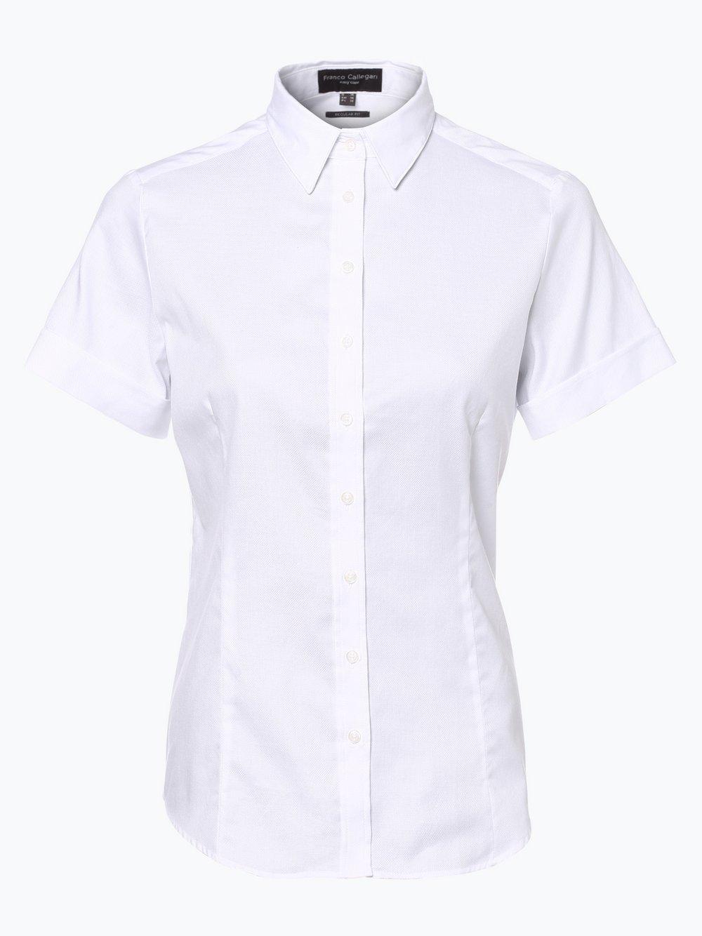 Franco Callegari – Bluzka damska, biały Van Graaf 311229-0006