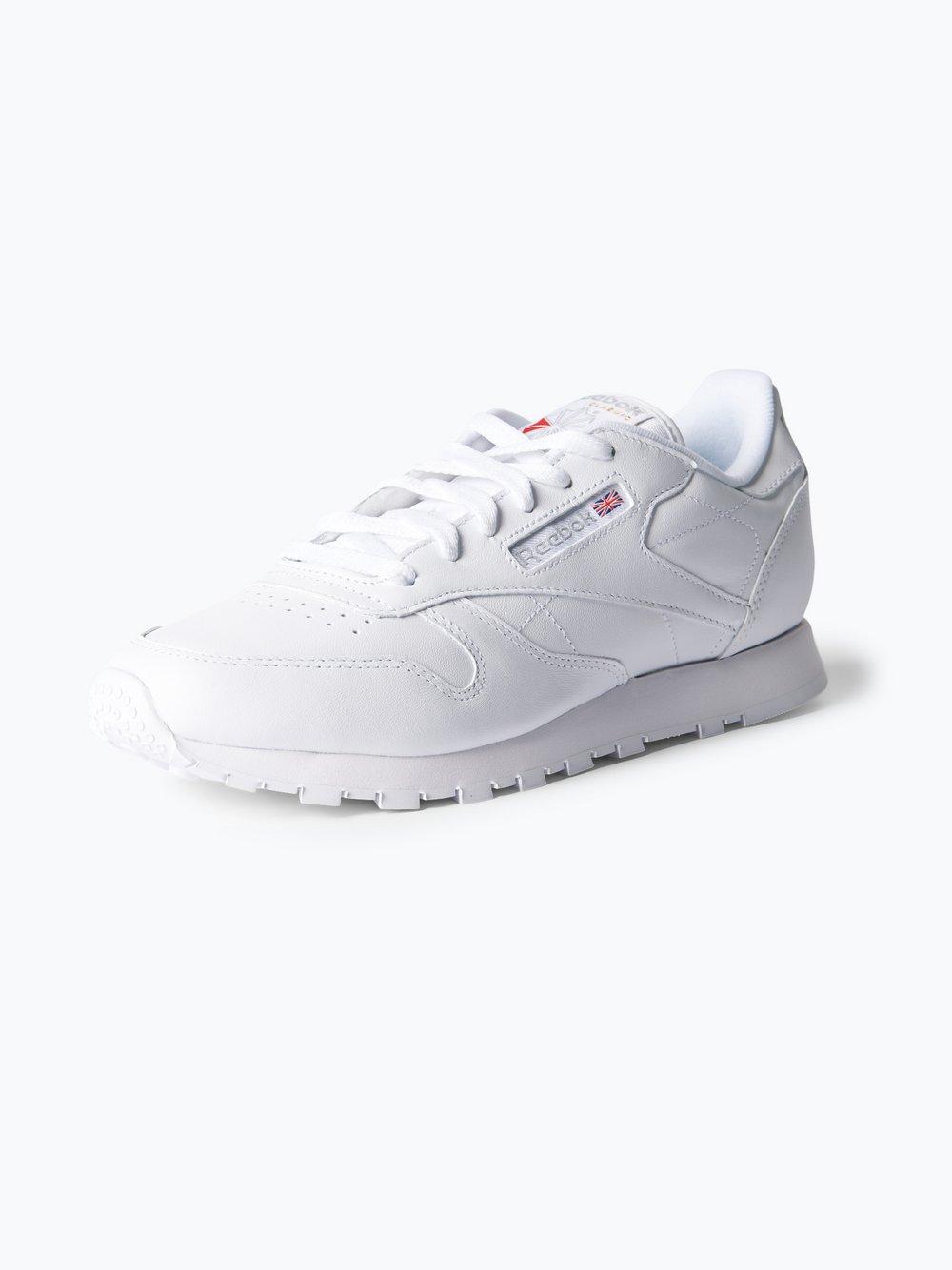 Reebok - Damskie tenisówki ze skóry, biały