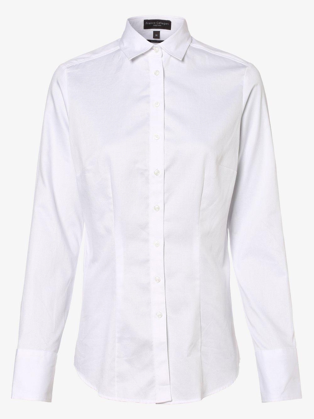Franco Callegari – Bluzka damska, biały Van Graaf 331184-0020-00440