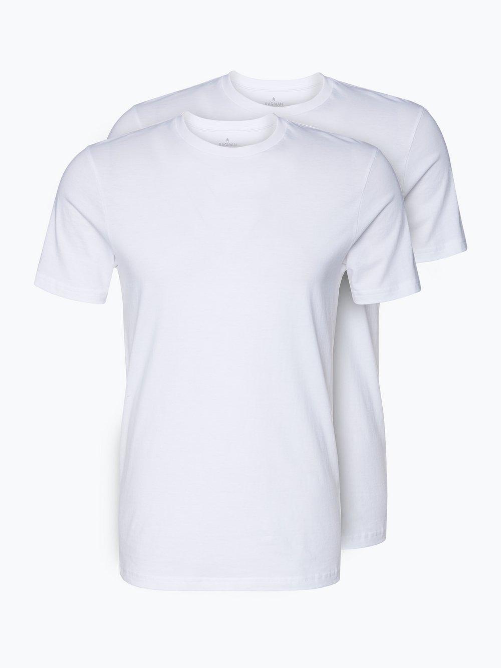 Ragman – T-shirty męskie pakowane po 2 szt., biały Van Graaf 336298-0001-09995