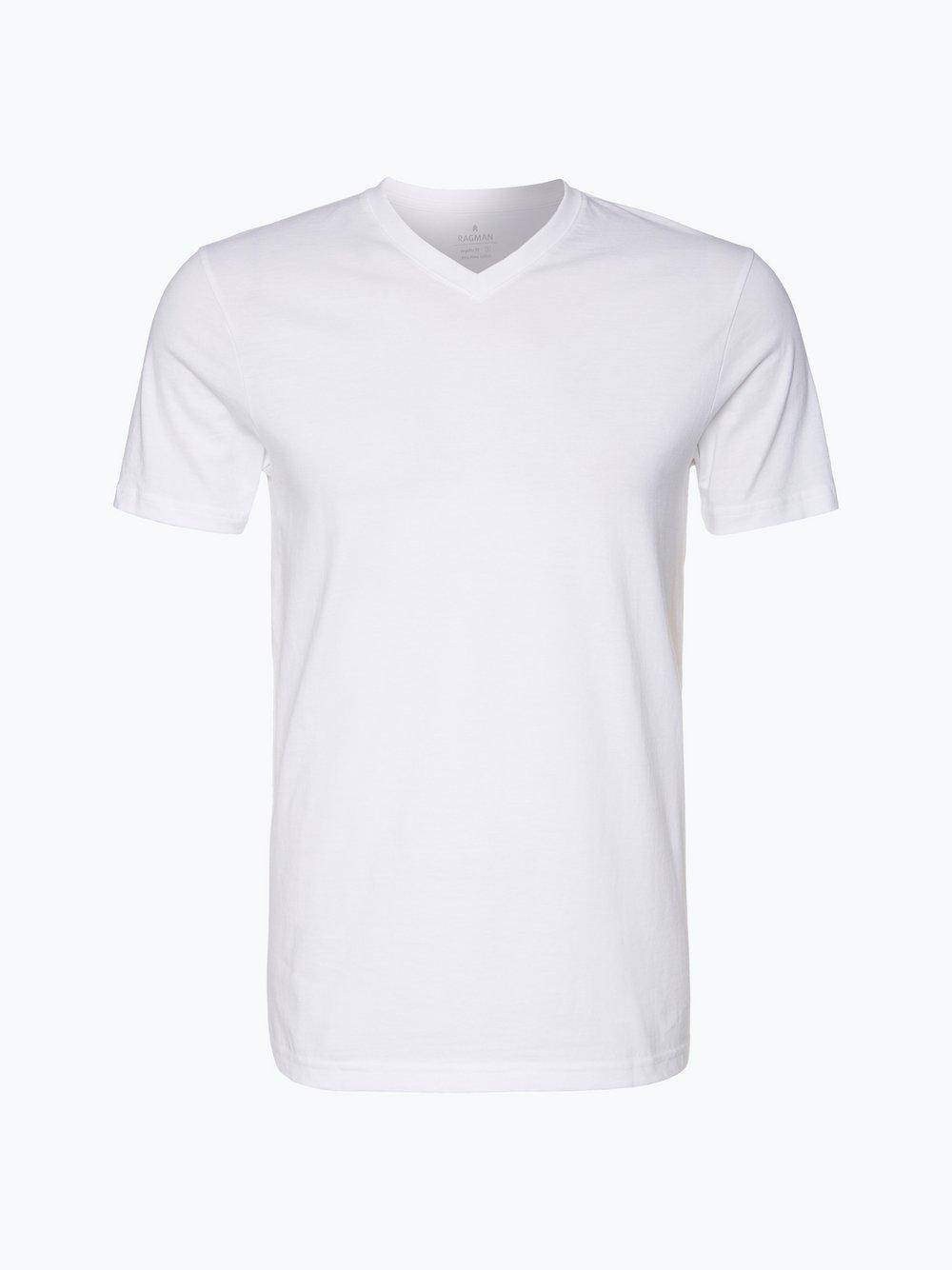 Ragman – T-shirty męskie pakowane po 2 szt., biały Van Graaf 336299-0001-09970