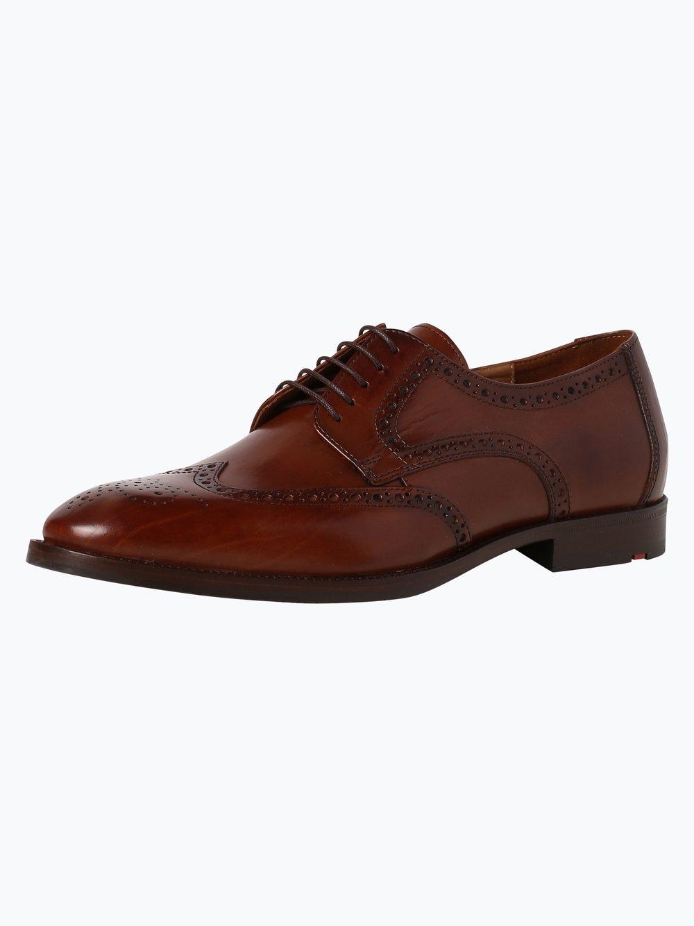 Lloyd – Męskie buty sznurowane ze skóry – Lucien, beżowy Van Graaf 341123-0005-00085