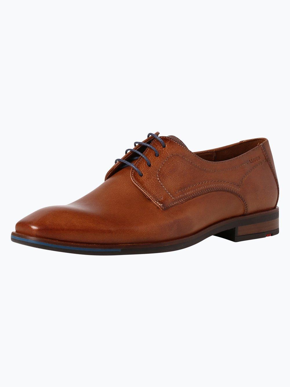 Lloyd – Męskie buty sznurowane ze skóry – Don, beżowy Van Graaf 342675-0004-00050