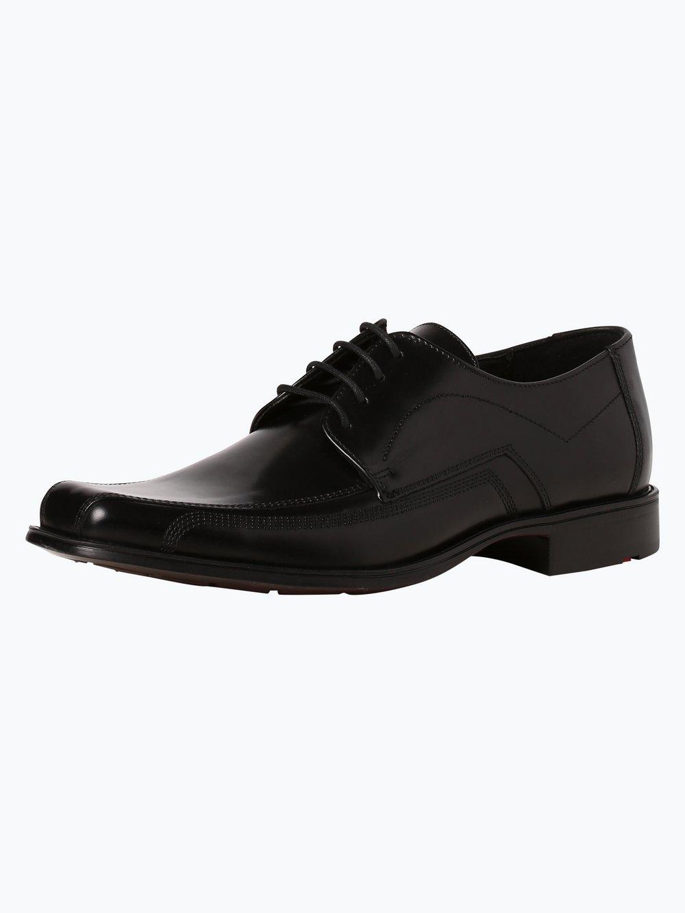 Lloyd - Męskie buty sznurowane ze skóry – Dagan, czarny
