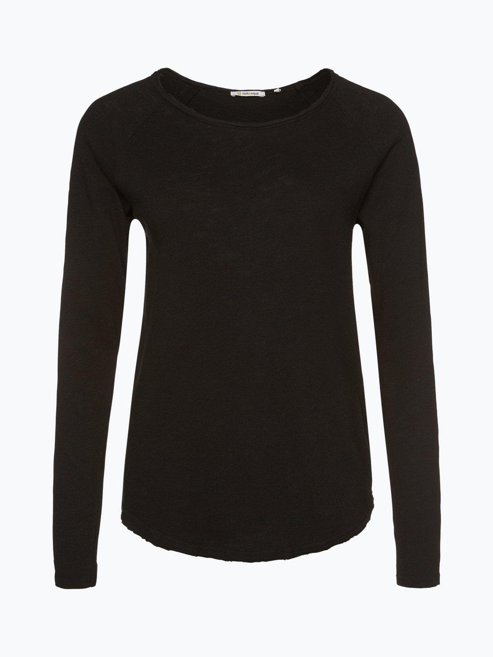 Rich & Royal - Damska koszulka z długim rękawem, czarny