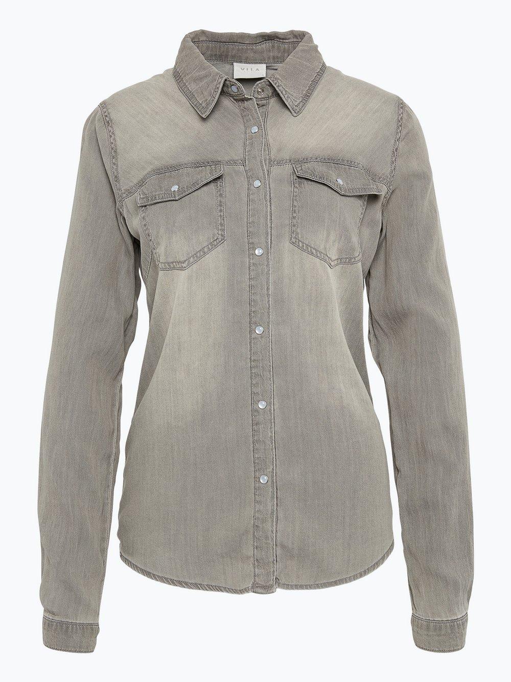 Vila - Damska koszula jeansowa – Vibista, szary