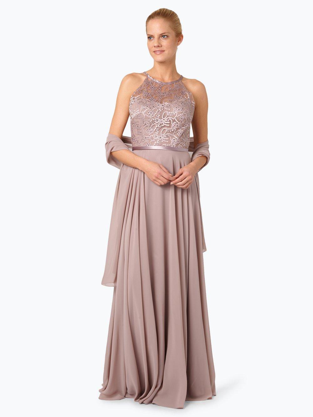 20a86ef007b2 Luxuar Fashion - Damska sukienka wieczorowa z etolą