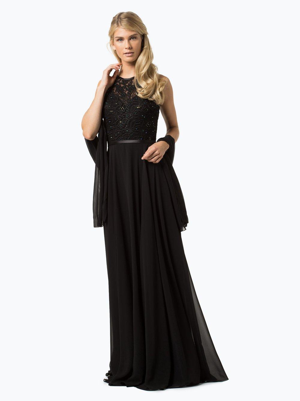 Luxuar Fashion – Damska sukienka wieczorowa z etolą, niebieski Van Graaf 348348-0003-00440