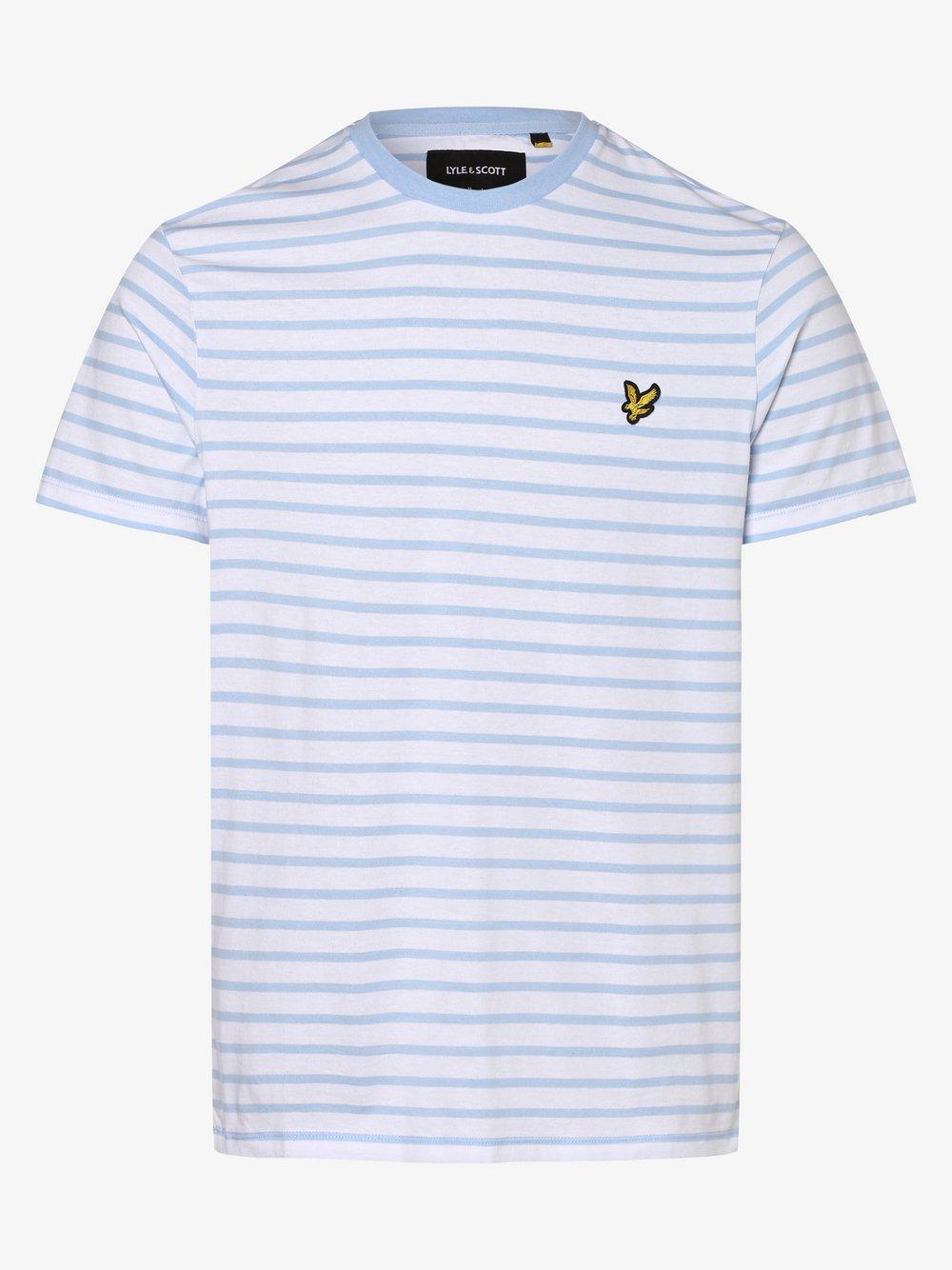 Lyle & Scott – T-shirt męski, niebieski Van Graaf 352721-0004-09900