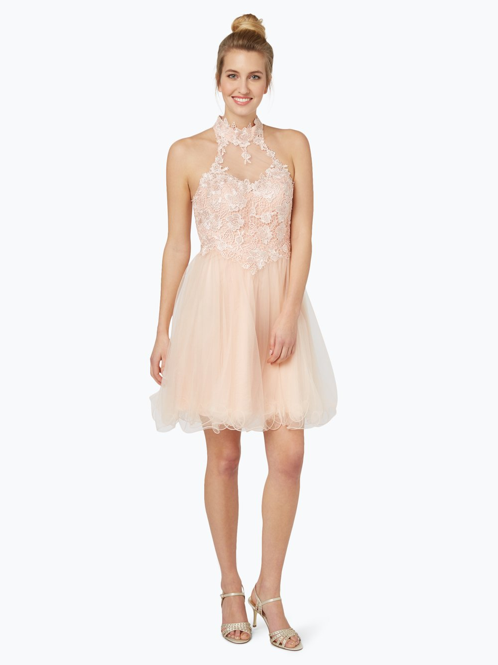 Laona - Damska sukienka koktajlowa, beżowy