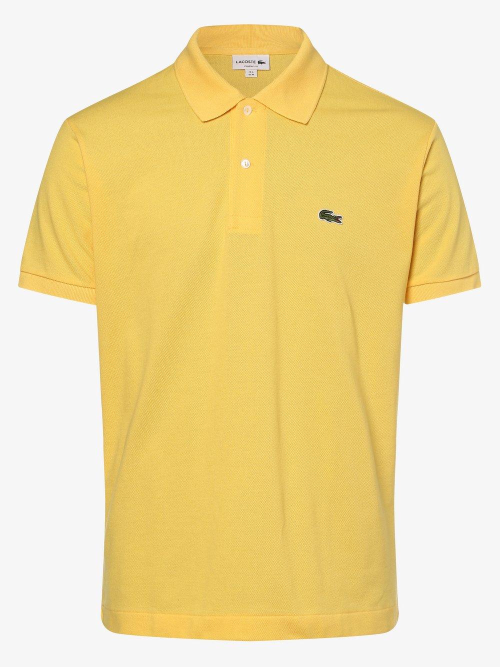 Lacoste - Męska koszulka polo, żółty