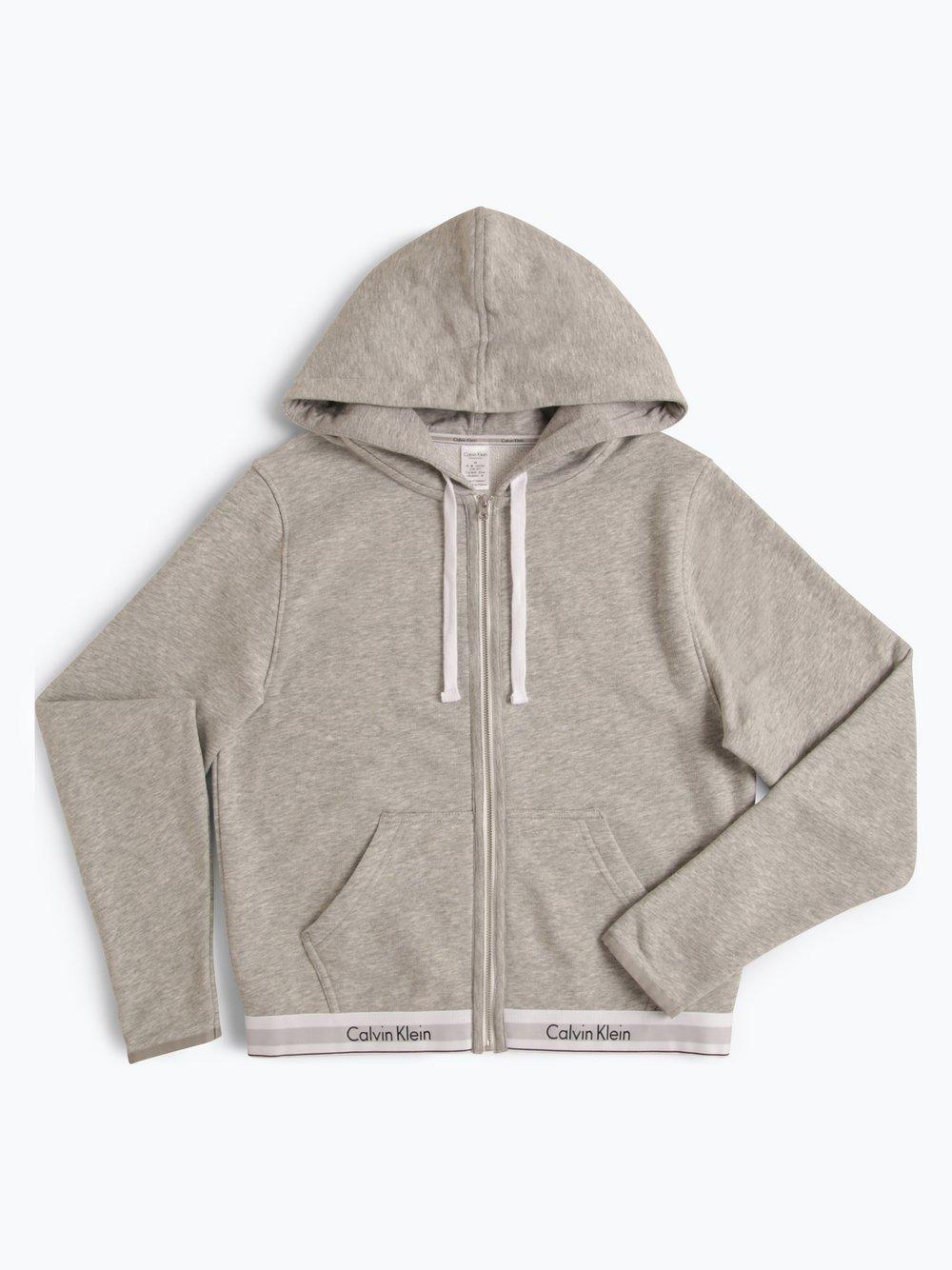 Calvin Klein - Damska bluza rozpinana, szary