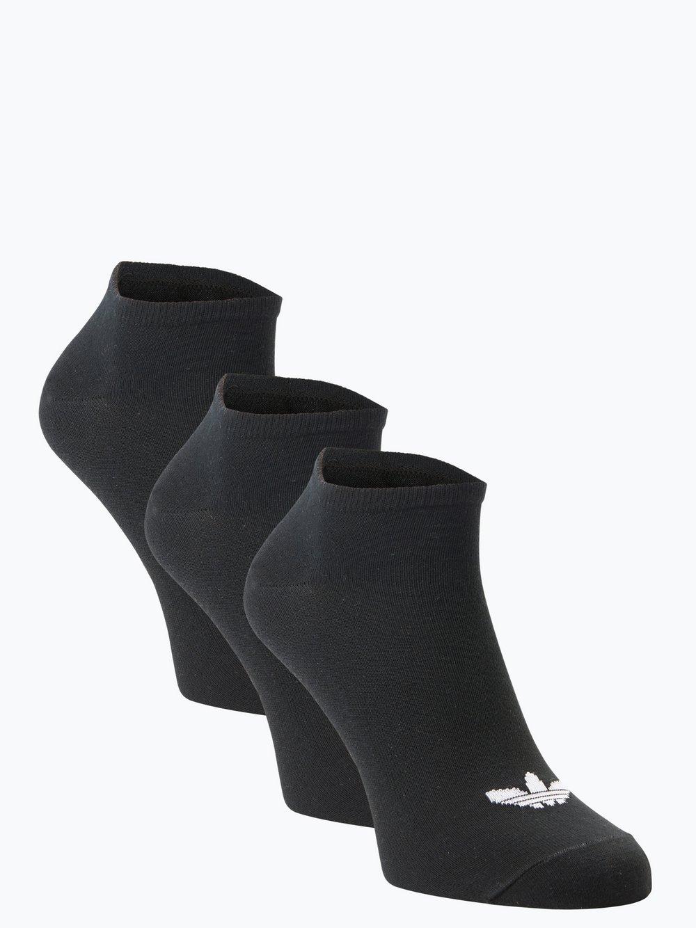Obraz przedstawiający adidas Originals - Damskie skarpety do obuwia sportowego pakowane po 3 szt., czarny