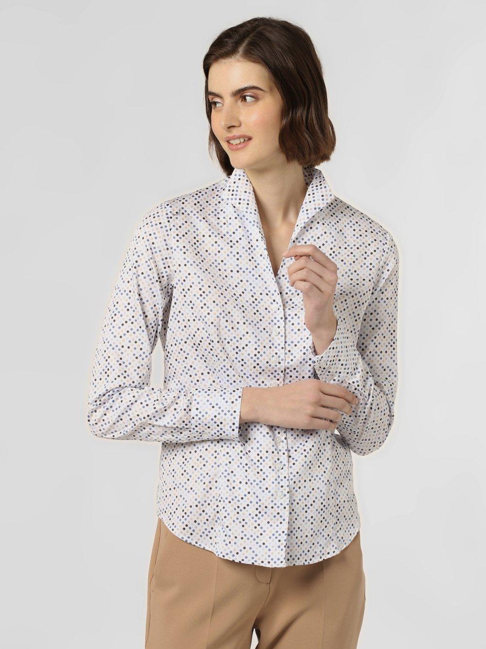 Franco Callegari – Bluzka damska łatwa w prasowaniu, niebieski Van Graaf 365389-0026