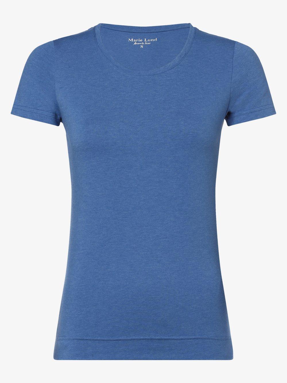 Marie Lund - T-shirt damski, niebieski