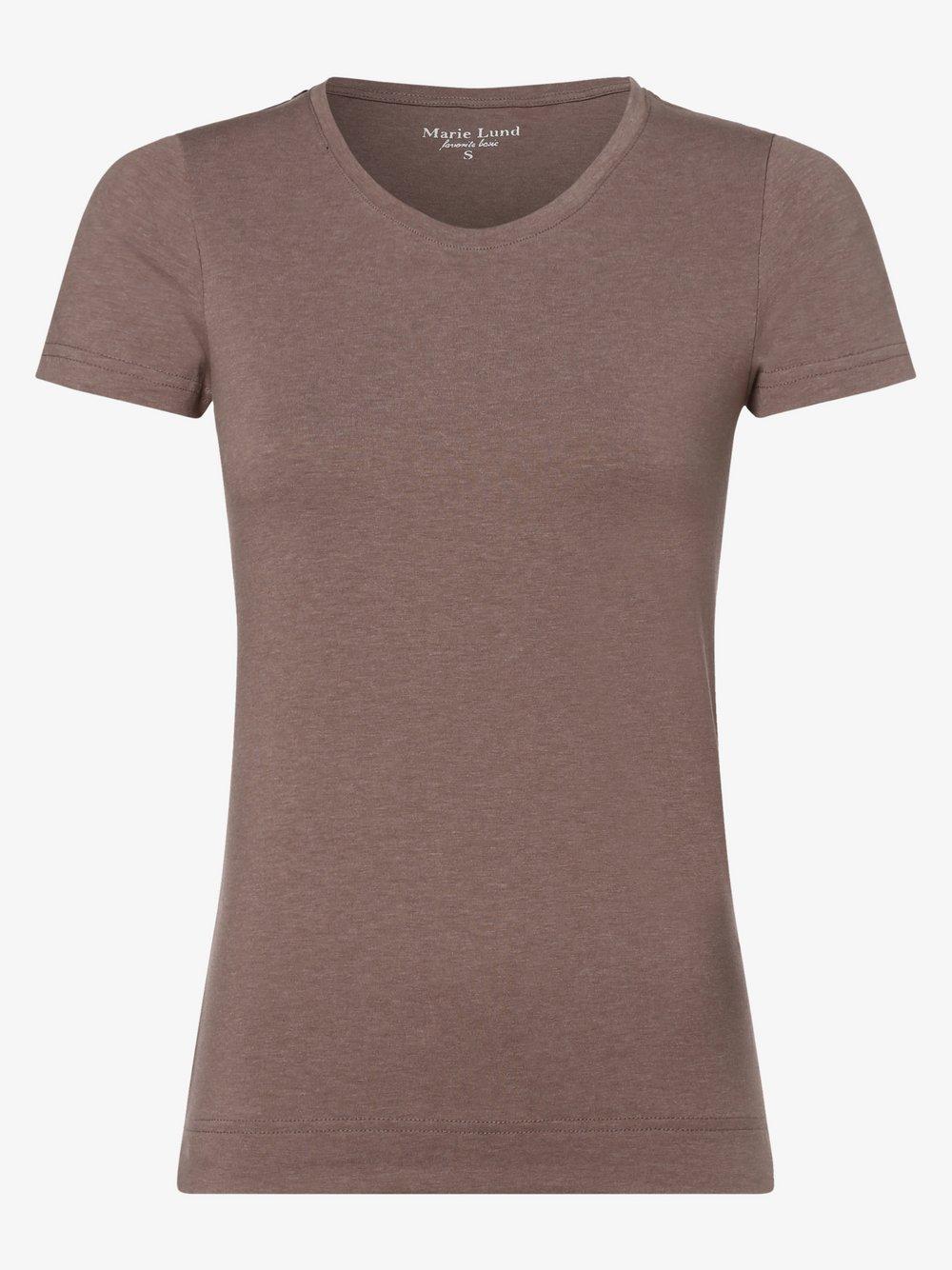 Marie Lund - T-shirt damski, beżowy