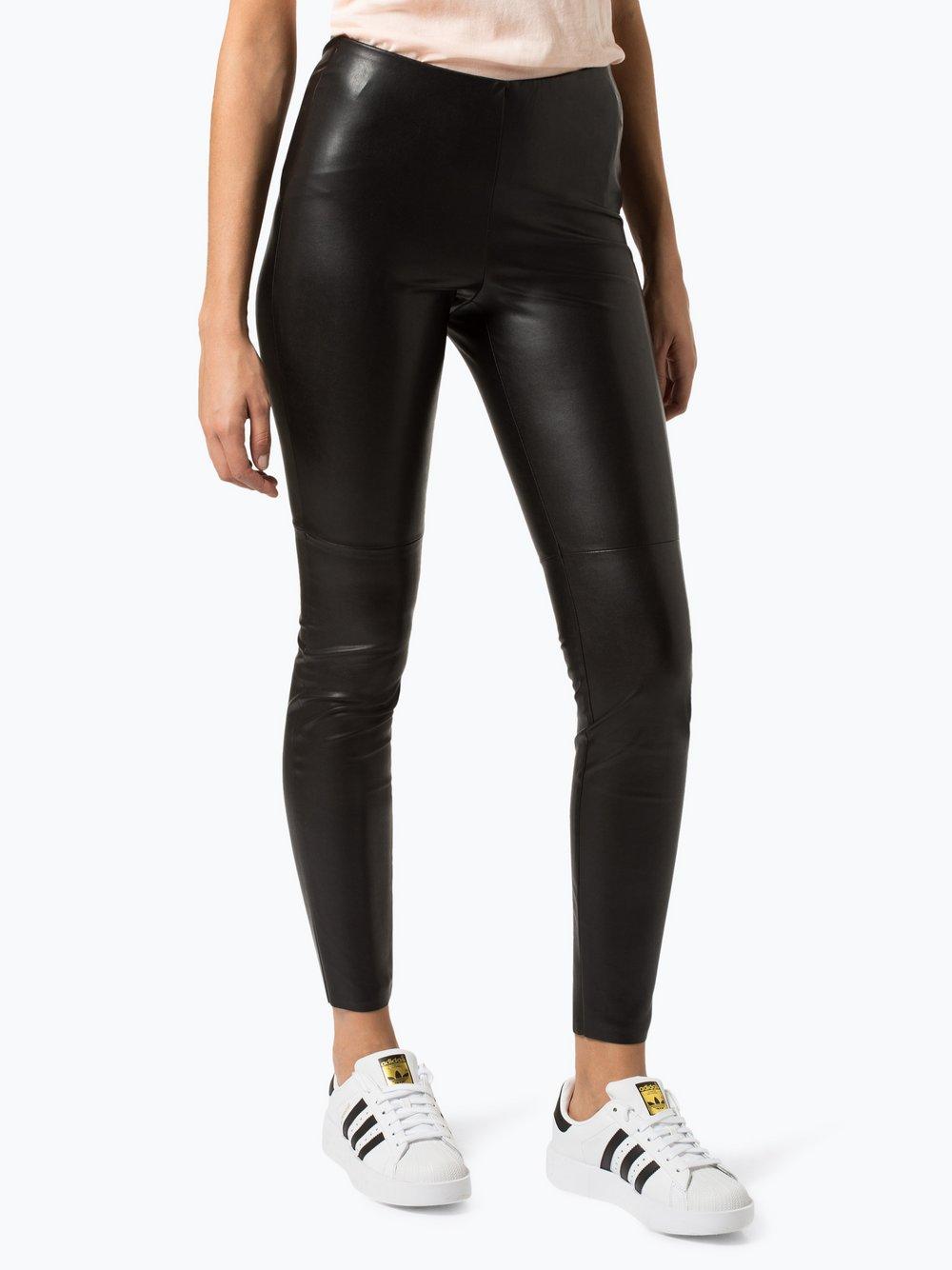 Cambio - Damskie spodnie z imitacji skóry – Randa, czarny