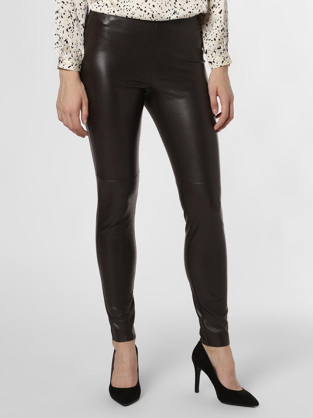 Cambio - Damskie spodnie z imitacji skóry – Randa, brązowy