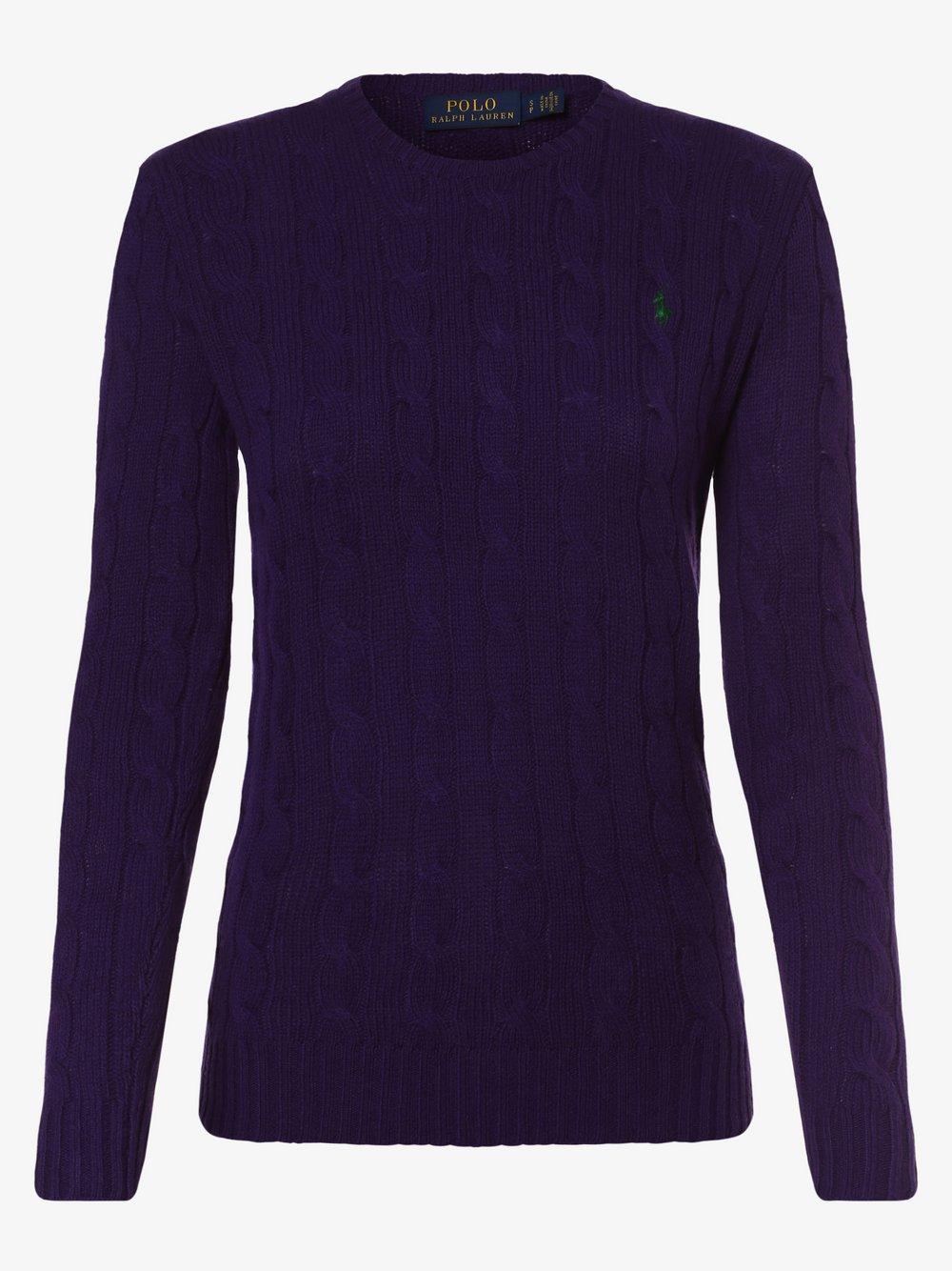 Polo Ralph Lauren - Sweter damski z mieszanki wełny merino i kaszmiru, lila