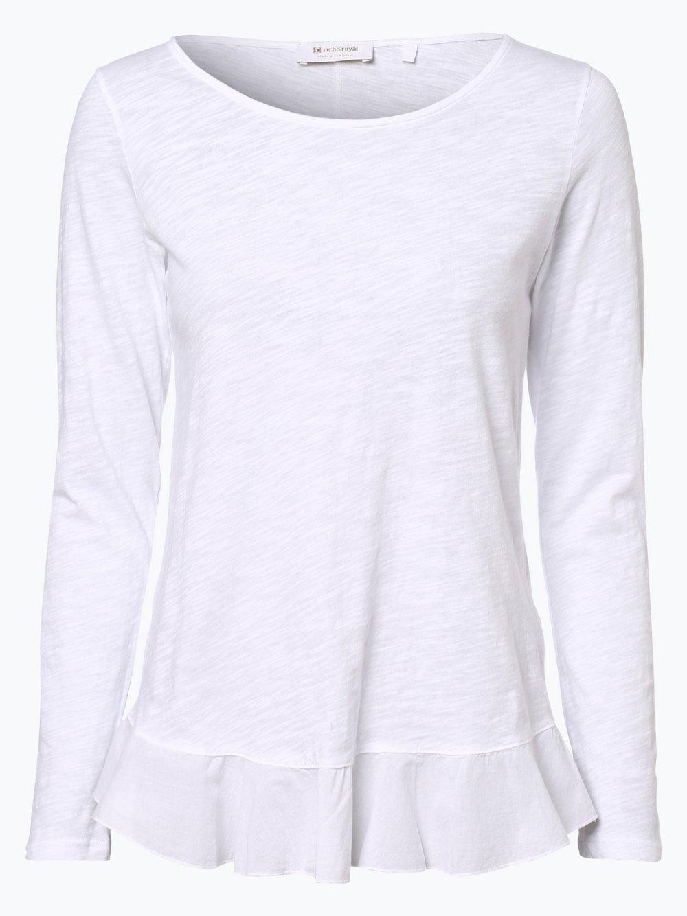 Rich & Royal - Damska koszulka z długim rękawem, biały