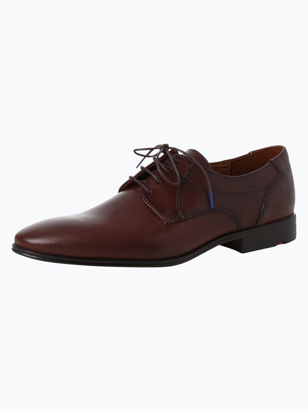 Lloyd – Męskie buty sznurowane ze skóry – Osmond, brązowy Van Graaf 375561-0003-00075
