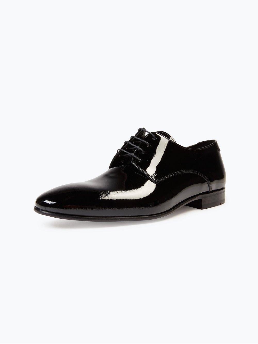 Lloyd – Męskie buty sznurowane ze skóry – Jerez, czarny Van Graaf 375562-0003-00080