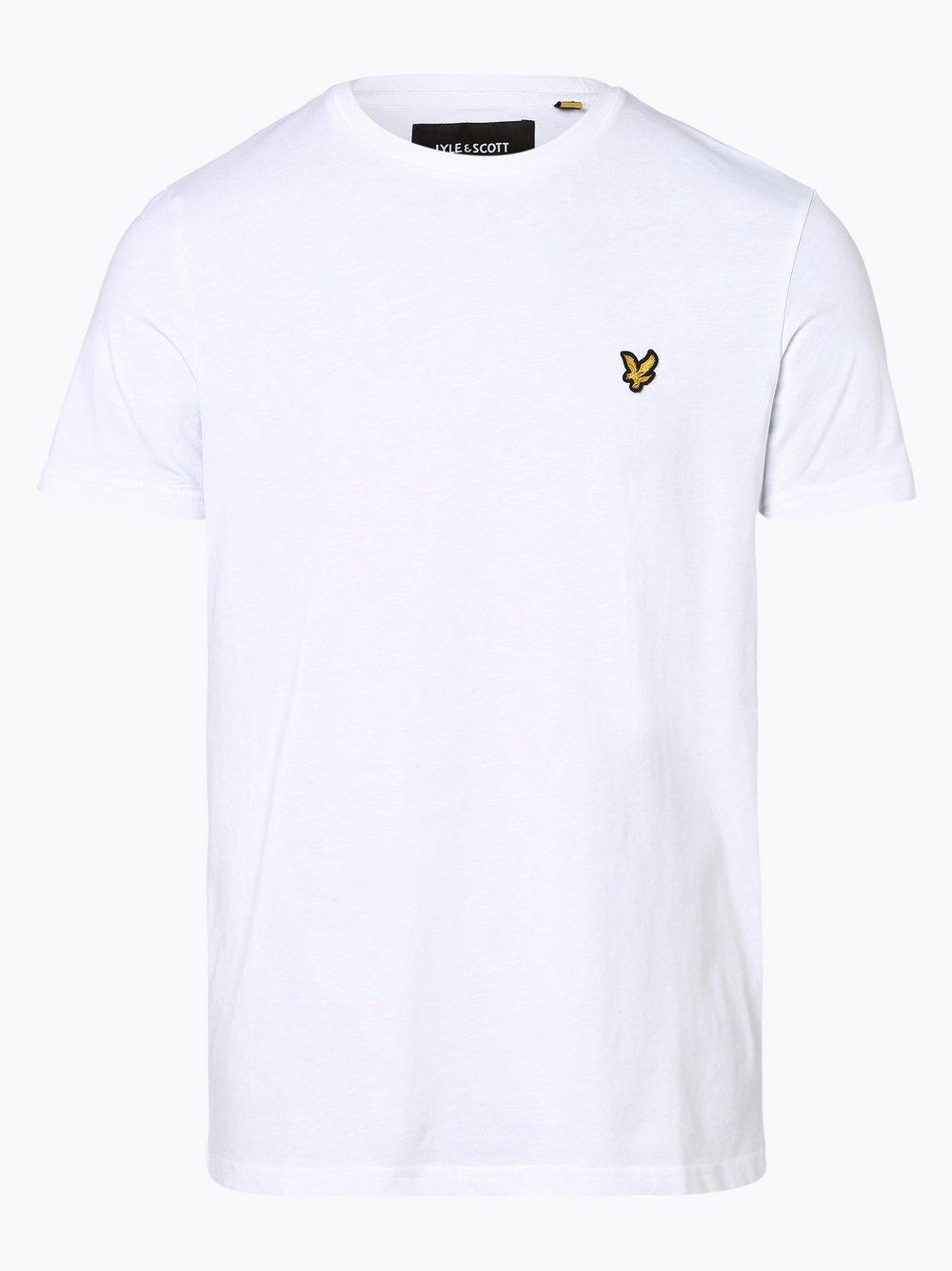 Lyle & Scott – T-shirt męski, biały Van Graaf 379709-0003