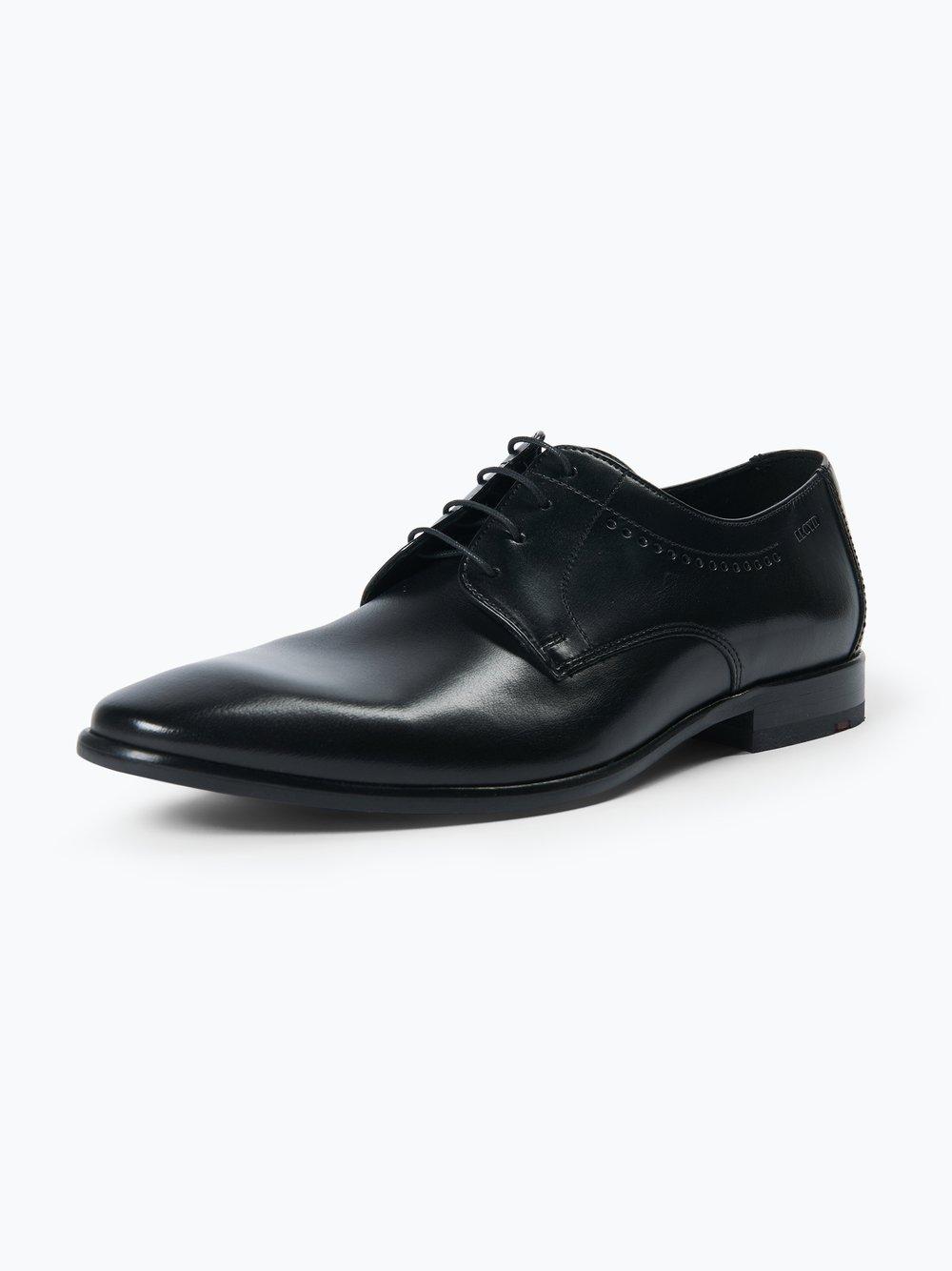 Lloyd – Męskie buty sznurowane ze skóry – Ocas, czarny Van Graaf 381032-0002-00070