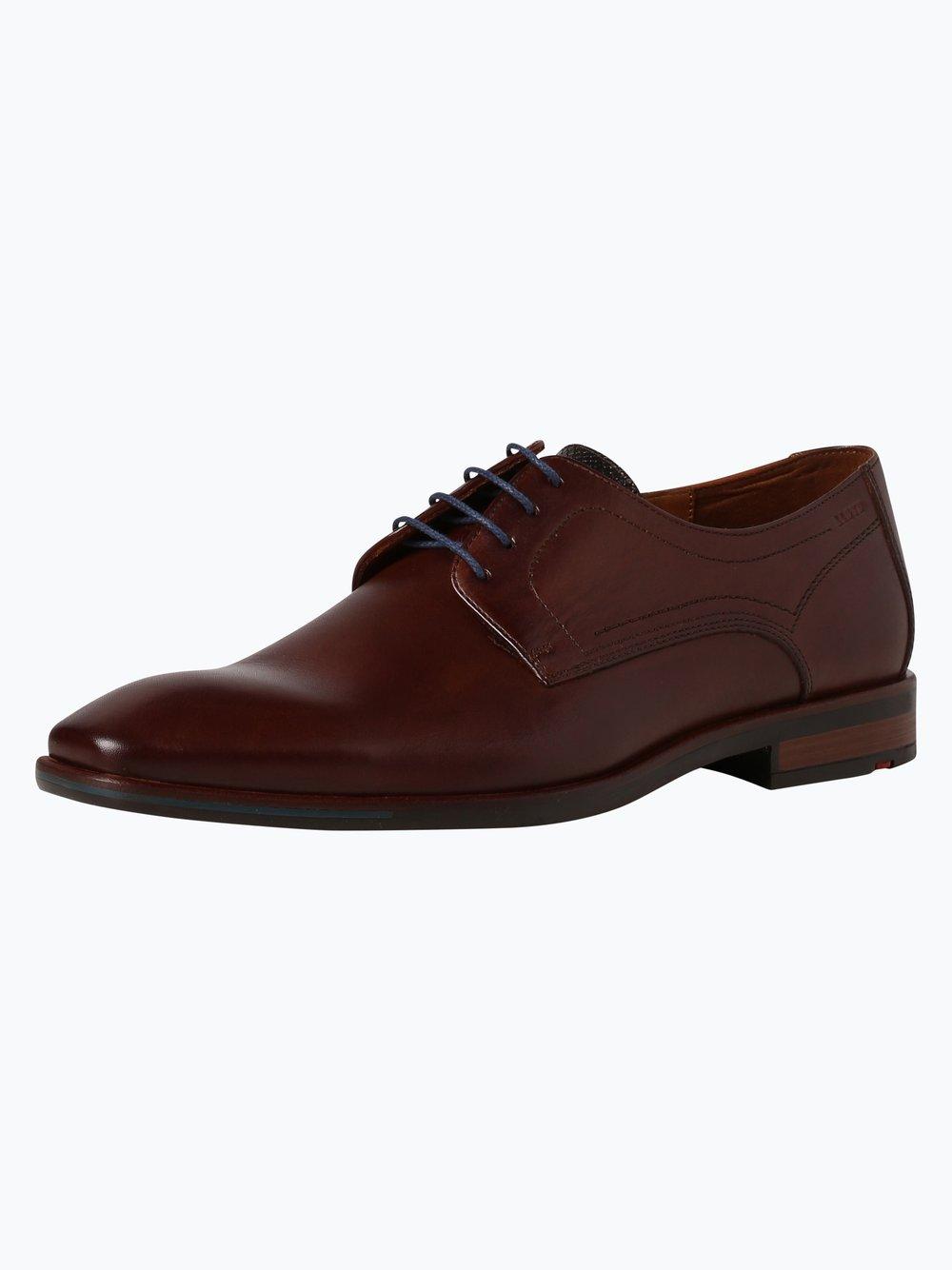 Lloyd – Męskie buty sznurowane ze skóry – Don, brązowy Van Graaf 381035-0001-00105