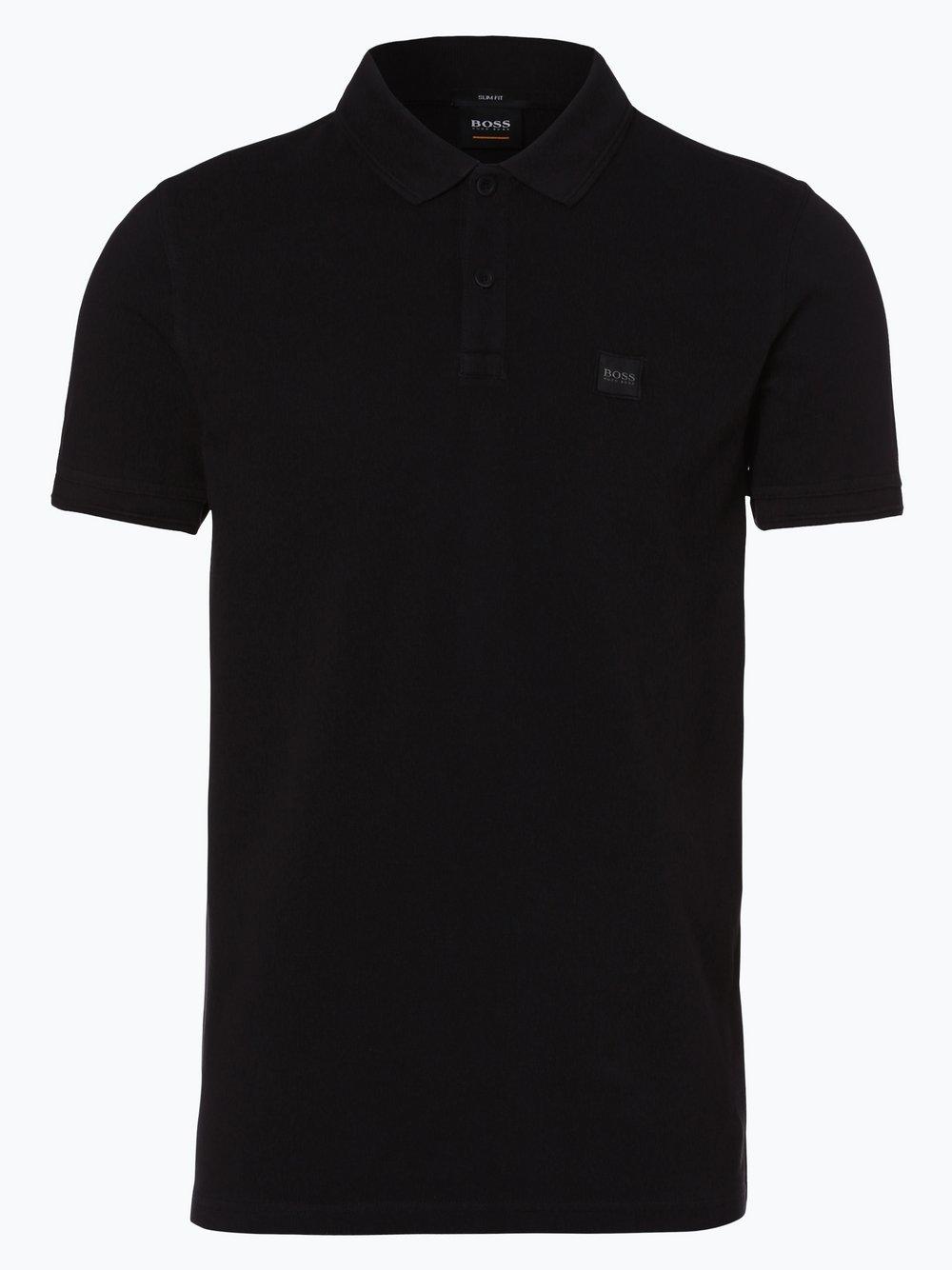 BOSS Casual – Męska koszulka polo – Prime, czarny Van Graaf 384394-0002