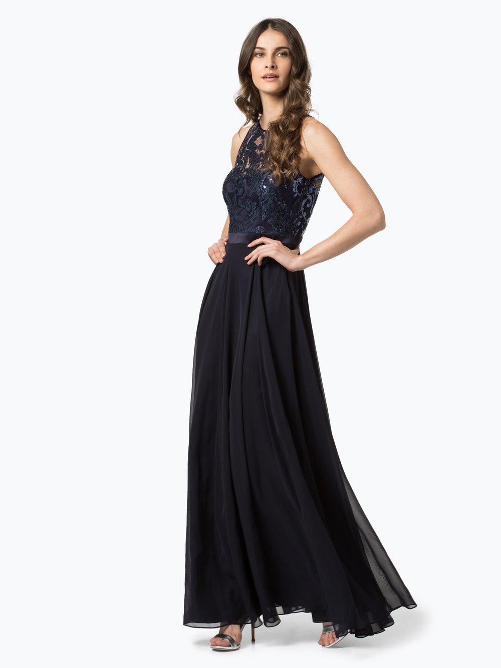 VM – Damska sukienka wieczorowa, niebieski Van Graaf 385784-0002-00360