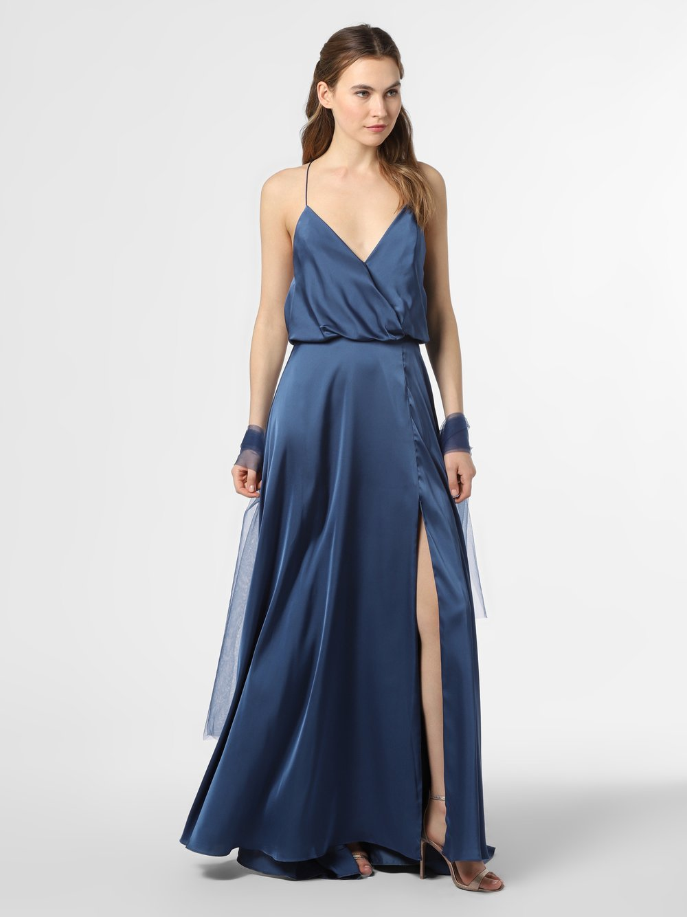 Unique – Damska sukienka wieczorowa, niebieski Van Graaf 386106-0007-00360