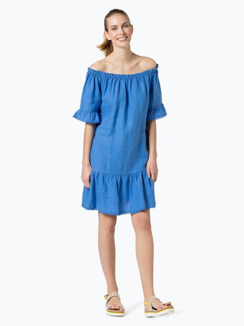 Obraz przedstawiający 0039 Italy - Lniana sukienka damska – Marge Dress, niebieski