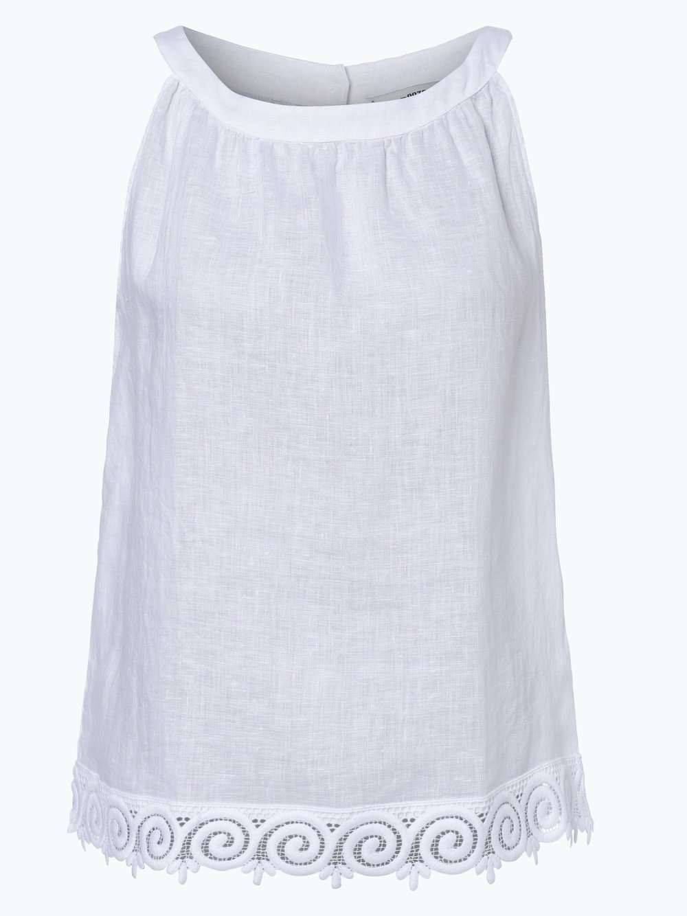 Obraz przedstawiający 0039 Italy - Damska bluzka bez rękawów z lnu - Josi Fancy, czarny